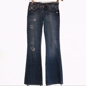 LUCKY BRAND Vintage 100% Cotton Distressed Jeans